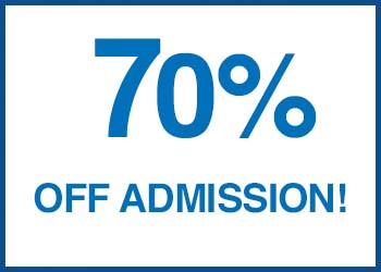 Diwali Special Admission Discount Flat 70%