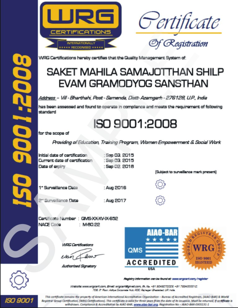 Dworld Group An Iso 90012008 Certified Wrg Certification For Iso